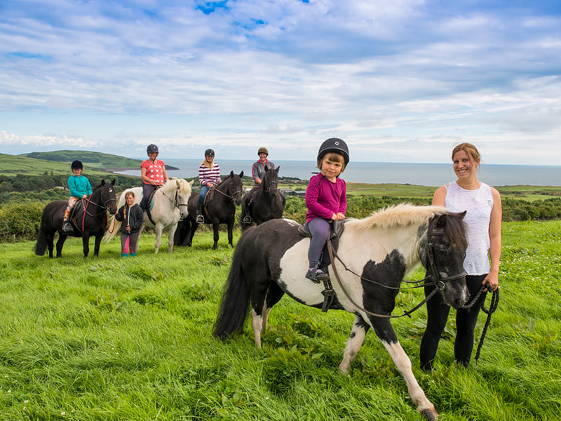horse riding at brighouse bay holiday park