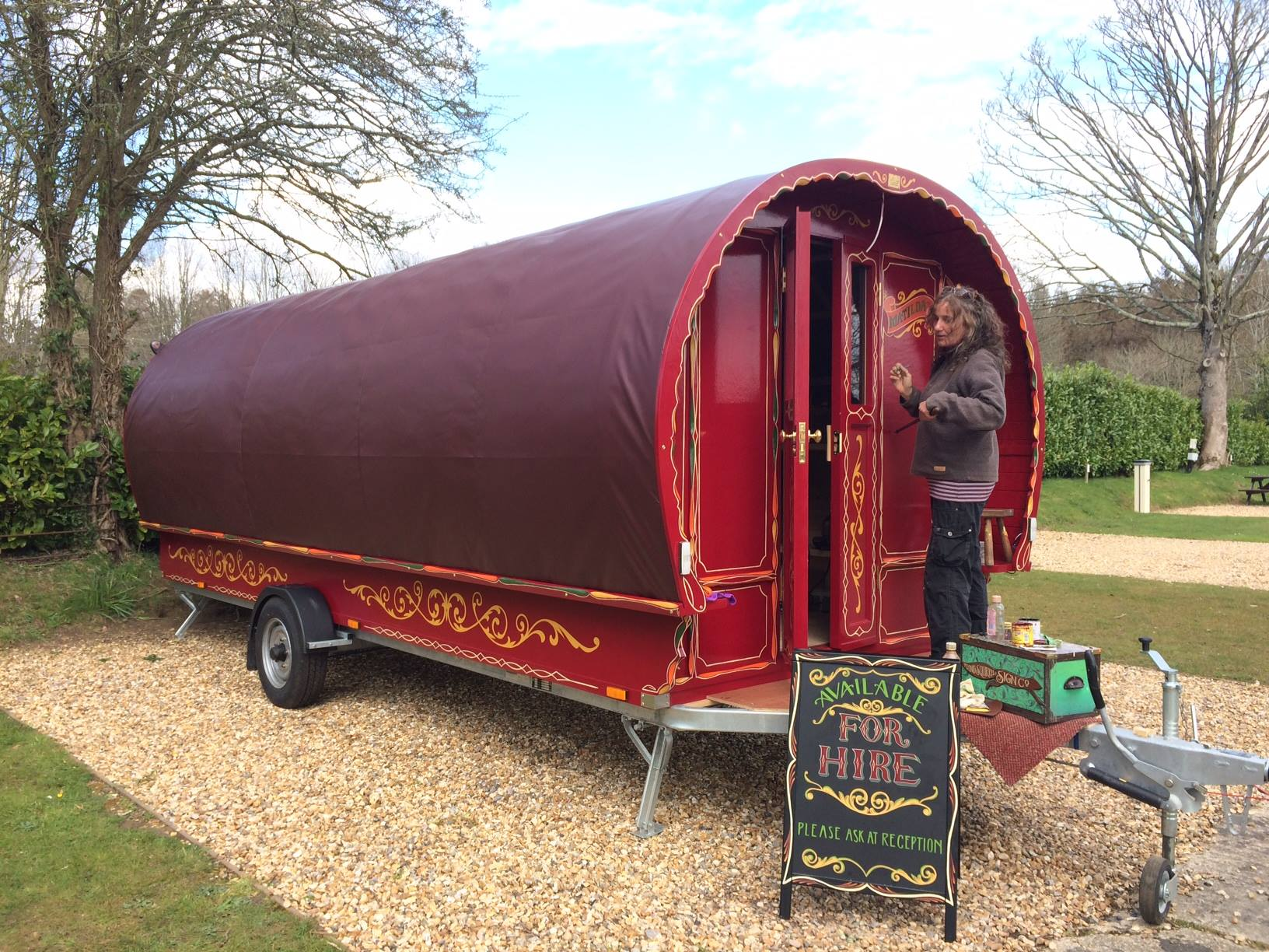 traditional romany caravans for hire